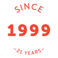 SINCE 1999 logo orange