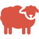 graphic icon woolly sheep v2
